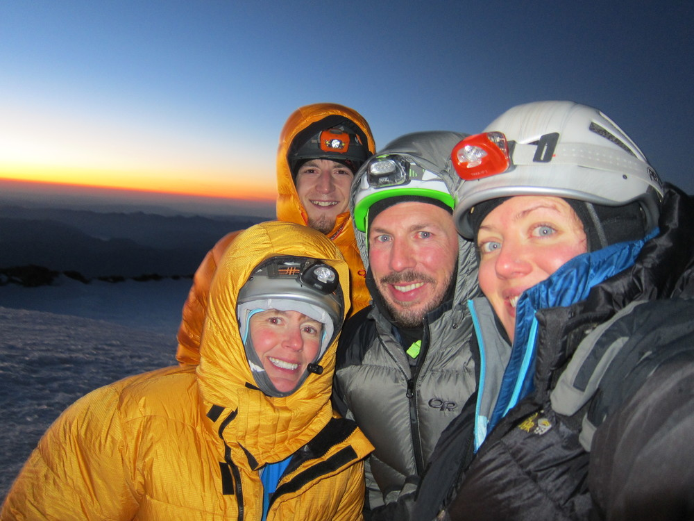 Summit team - (L to R) Brenda, Zak, Aaron and I.