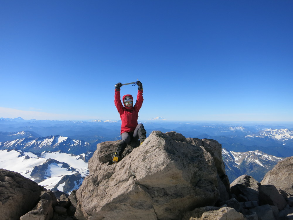 Me, circa 2014 on the summit of Glacier Peak, Washington State.