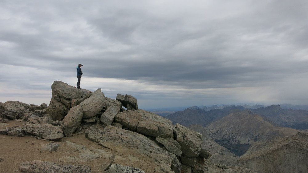 Summit of Wind River Peak, Wyoming.