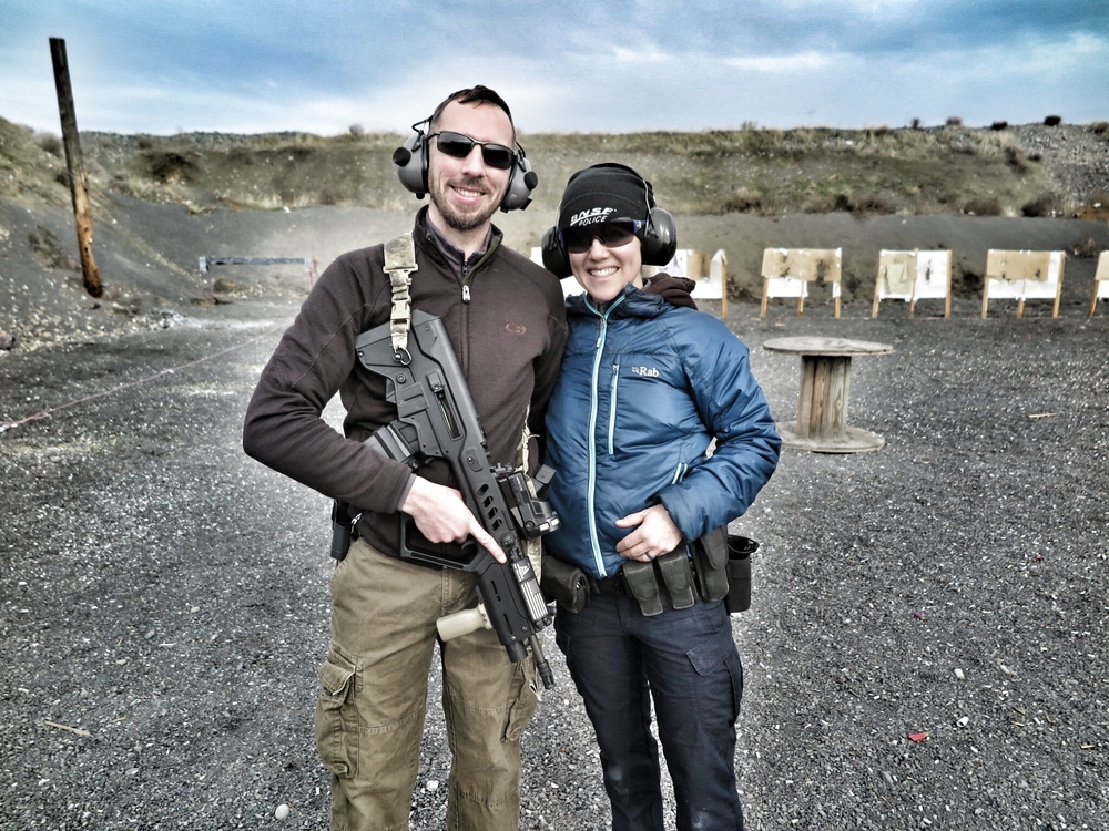 The couple that shoots together....