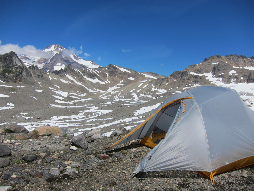 Our Glacier Peak basecamp site.