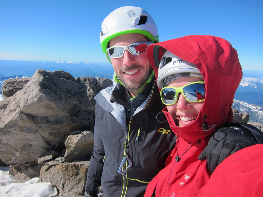 Summit of Glacier Peak.