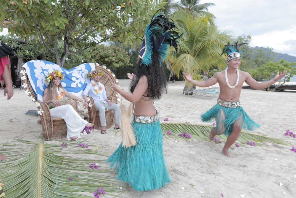 Polynesian dancers at our wedding.