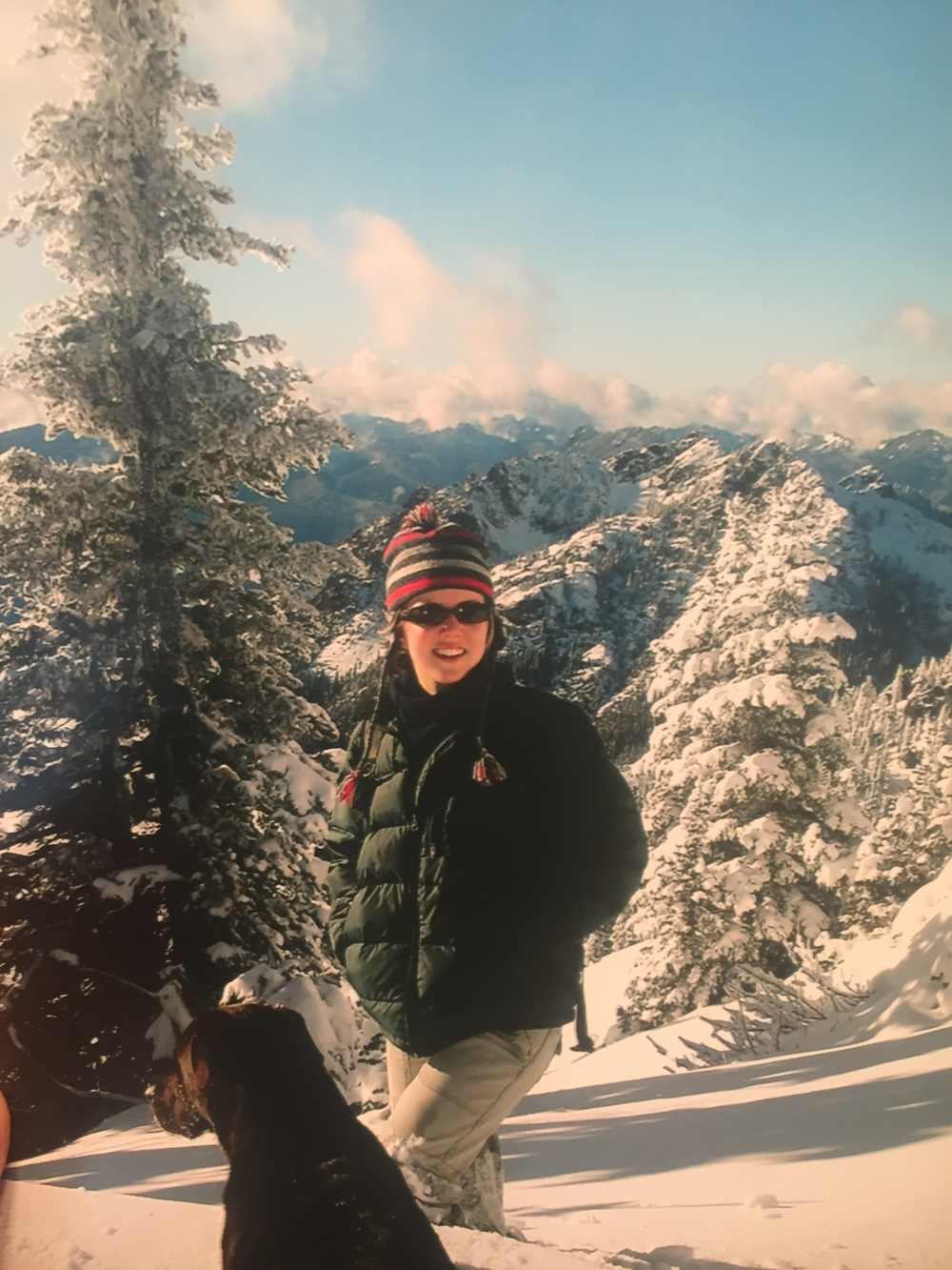 Circa 15 years ago in my frozen cotton cargo pants on Mt. Ellinor, Olympic Mountains, WA.