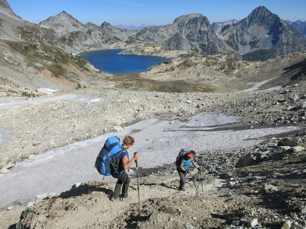 Descending to Ice lakes, Entiat National Forest.