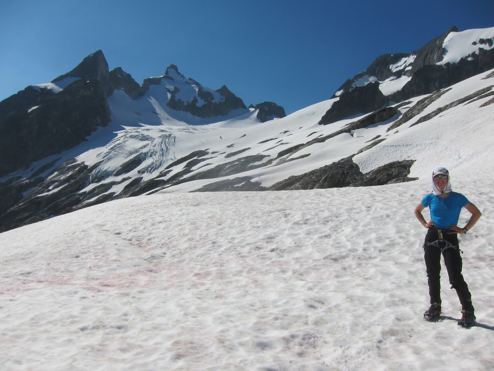 About to traverse onto the Dana Glacier, which was way more gentle than it looked from camp.