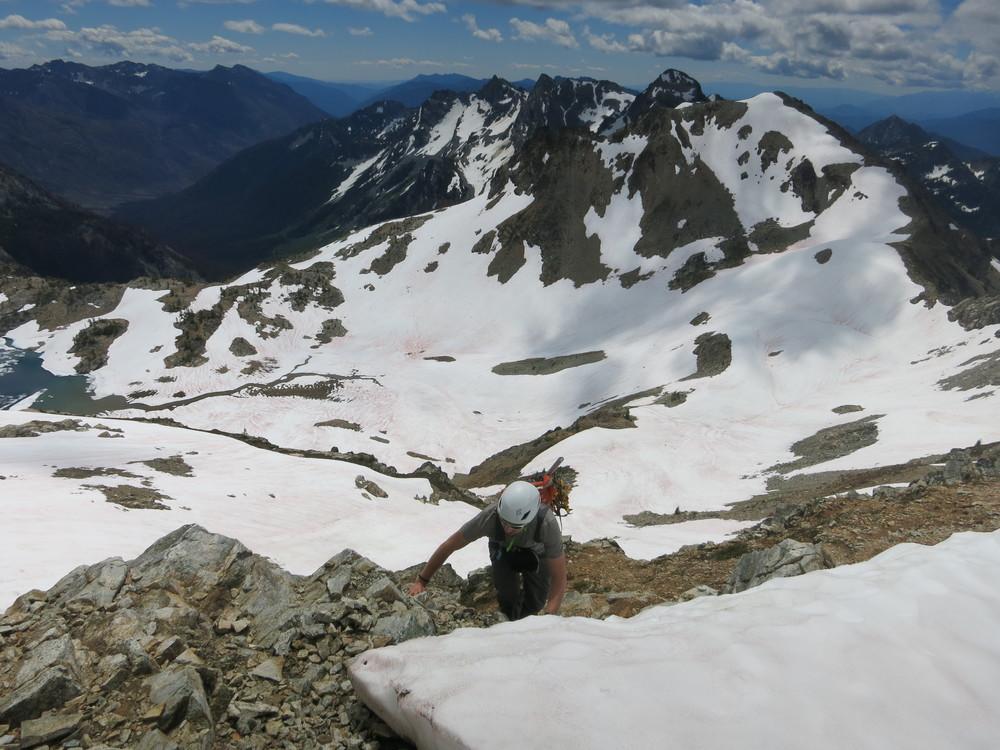 Fun scrambling to gain the ridge on Maude.