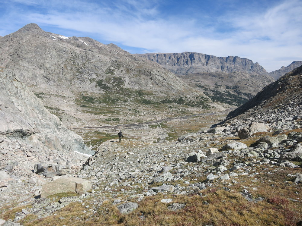 Coming down from Alpine Lakes Pass into heaven on earth.