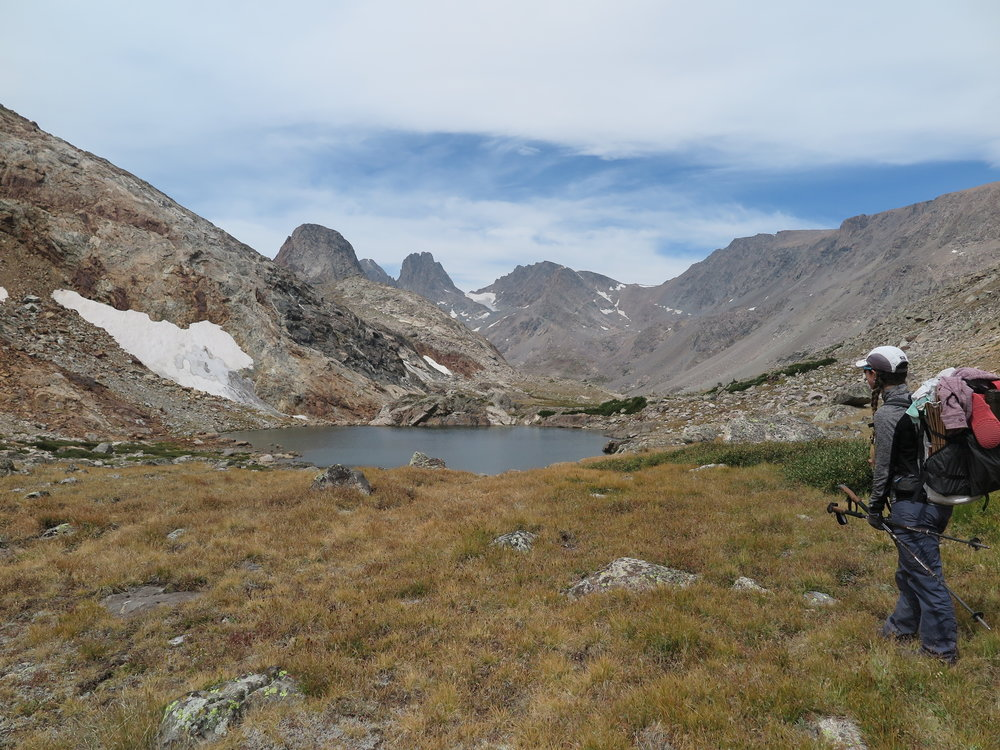 Blaurock pass is the saddle in the right/middle of photo.