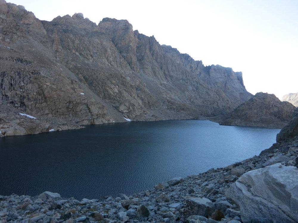 Lake 11335 in the morning.