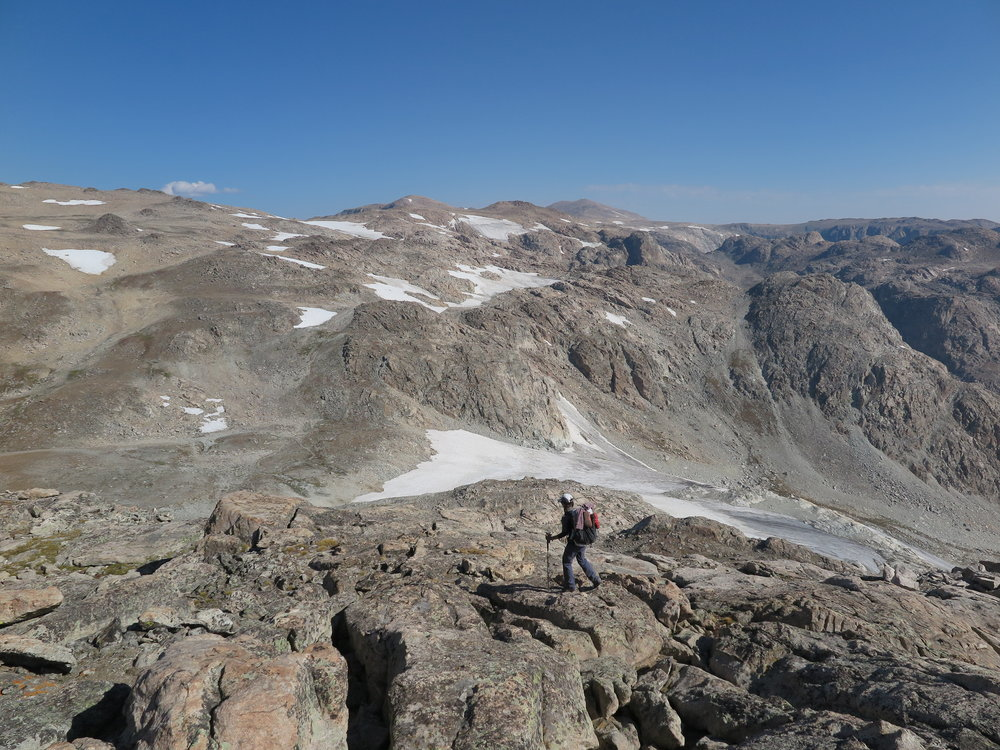 Heading towards Iceberg Lake Pass.  Barren landscape at its finest.