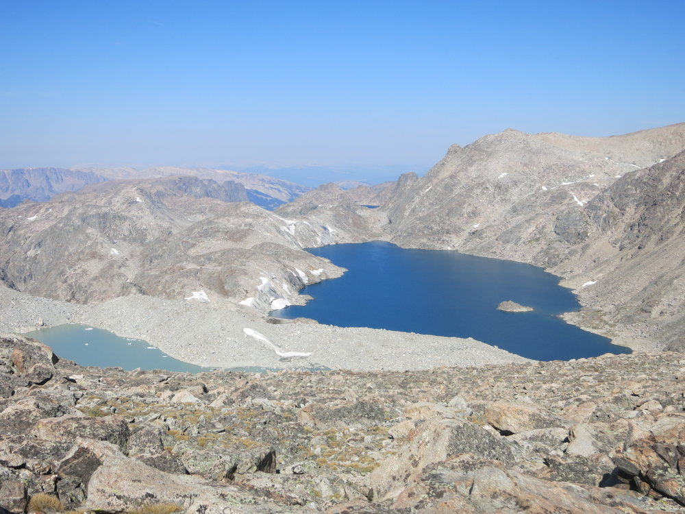 View of Baker Lake from above Iceberg Lake Pass.  Spectacular!