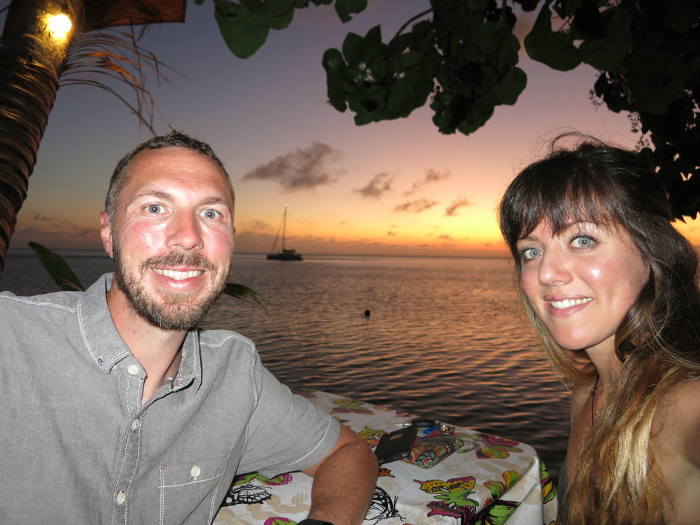 Last photo in our French Polynesia album. Our final dinner on Huahine.