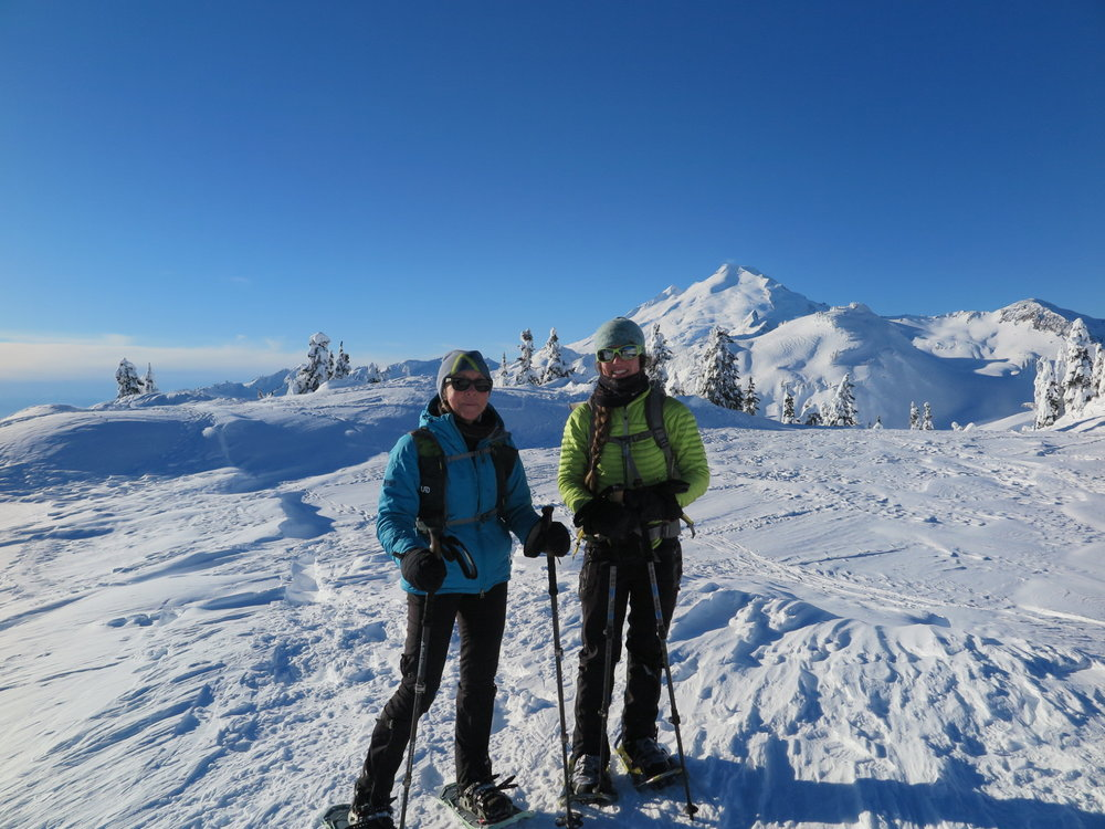 Mom and I at Artist Point with Mt. Baker in the background.