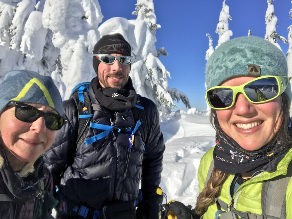 Smiling faces on the summit.