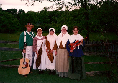 There I am on the far right (with the violin) at my first National Park Service volunteer