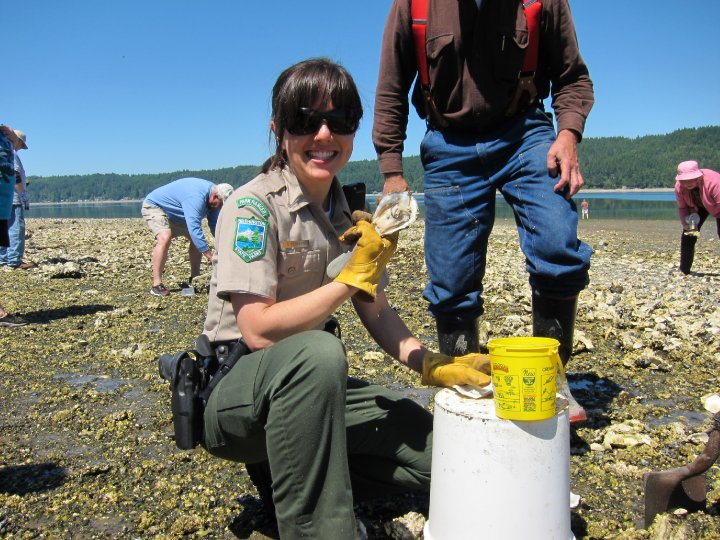 Shucking oysters back in my ranger days.
