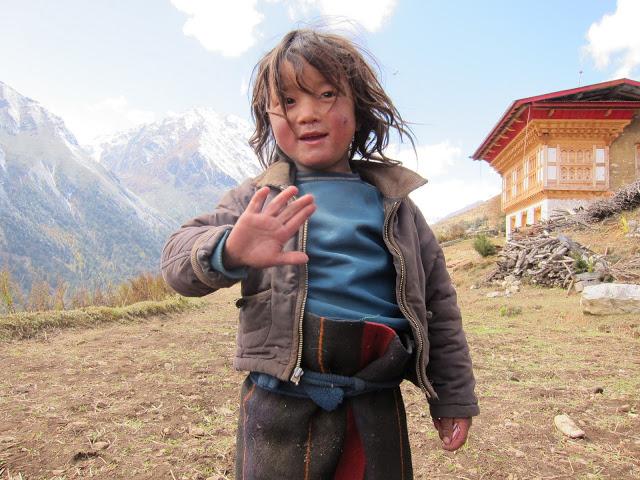 Girl in Laya Village.