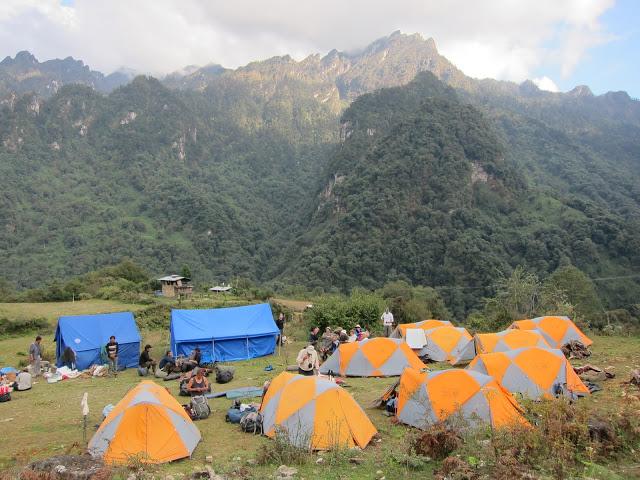 Final campsite in Gasa.