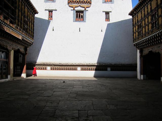 Monk in the Paro Dzong