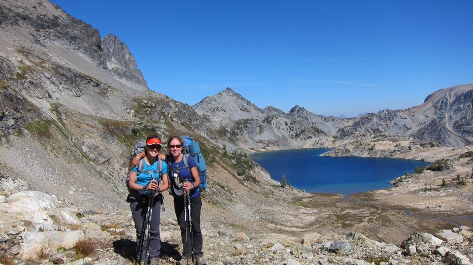 Mom and I at Upper Ice Lake, Entiat Wilderness.