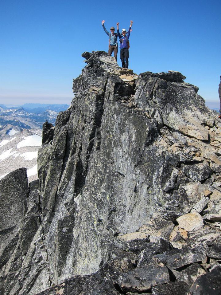 Remember that part where my mom said that she wasn't a mountain climber? Summit of Mt. Hinman, Alpine Lakes Wilderness.