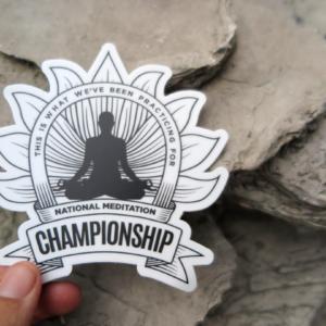 meditation championship sticker