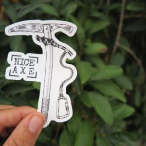 nice axe sticker