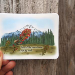 toward the mountaintop sticker